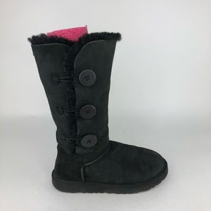 UGG Australia Bailey Button Suede Shearling Boots